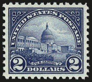 Sale Number 962, Lot Number 2860, 1922-26 and Later Issues (Scott 551-599A)$2.00 Deep Blue (572), $2.00 Deep Blue (572)
