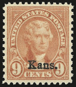 Sale Number 962, Lot Number 2903, 1922-26 and Later Issues (Scott 619-1617c)9c Kans. Ovpt. (667), 9c Kans. Ovpt. (667)