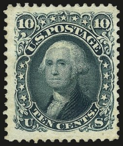Sale Number 963, Lot Number 615, 1875 Re-Issue of 1861-66 Issue (Scott 102-111)10c Green, Re-Issue (106), 10c Green, Re-Issue (106)