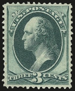 Sale Number 963, Lot Number 751, 1870 National Bank Note Co. Ungrilled Issue (Scott 145-155)3c Green (147), 3c Green (147)