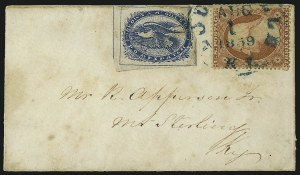 Sale Number 965, Lot Number 1024, Louisville, KentuckyBrown & McGill's U.S.P.O. Despatch, Louisville Ky., (2c) Blue (5LB2), Brown & McGill's U.S.P.O. Despatch, Louisville Ky., (2c) Blue (5LB2)