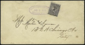 Sale Number 965, Lot Number 1073, Local and Private Posts (Adams thru Berford)Allen's City Dispatch, Chicago Ill., (unstated value) Black (3L2), Allen's City Dispatch, Chicago Ill., (unstated value) Black (3L2)