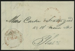 Sale Number 965, Lot Number 1083, Local and Private Posts (Bicycle Mail Route thru Blood)Philadelphia Despatch Post, Philadelphia Pa., 3c Red (15L1), Philadelphia Despatch Post, Philadelphia Pa., 3c Red (15L1)