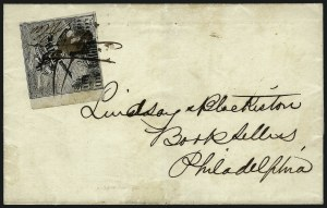 "Sale Number 965, Lot Number 1085, Local and Private Posts (Bicycle Mail Route thru Blood)Philadelphia Despatch Post, Philadelphia Pa., (3c) Black on Grayish, ""R & Co."" Initials (15L3), Philadelphia Despatch Post, Philadelphia Pa., (3c) Black on Grayish, ""R & Co."" Initials (15L3)"