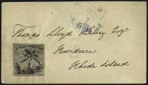 Sale Number 965, Lot Number 1087, Local and Private Posts (Bicycle Mail Route thru Blood)D. O. Blood & Co., Philadelphia Pa., (2c) Black (15L5), D. O. Blood & Co., Philadelphia Pa., (2c) Black (15L5)
