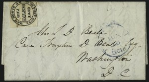 "Sale Number 965, Lot Number 1092, Local and Private Posts (Bicycle Mail Route thru Blood)D. O. Blood & Co., Philadelphia Pa., (1c) Black, ""For the Post Office"" (15L9), D. O. Blood & Co., Philadelphia Pa., (1c) Black, ""For the Post Office"" (15L9)"