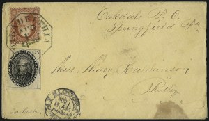 Sale Number 965, Lot Number 1101, Local and Private Posts (Bicycle Mail Route thru Blood)Blood's Penny Post, Philadelphia Pa., (1c) Black (15L18), Blood's Penny Post, Philadelphia Pa., (1c) Black (15L18)