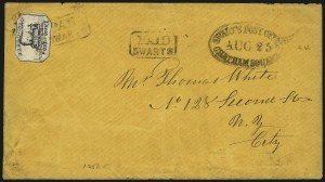 Sale Number 965, Lot Number 1136, Local and Private Posts (Brady thru Browns)Broadway Post Office, New York N.Y., (1c) Black (26L2), Broadway Post Office, New York N.Y., (1c) Black (26L2)