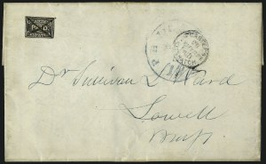 Sale Number 965, Lot Number 1152, Local and Private Posts (California City Letter Express thru Cheever & Towle)G. Carter's Despatch, Philadelphia Pa., (2c) Black (36L1), G. Carter's Despatch, Philadelphia Pa., (2c) Black (36L1)