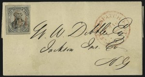 Sale Number 965, Lot Number 1155, Local and Private Posts (Griegs thru Cressman)(Greig's) City Despatch Post, New York N.Y., 3c Black on Grayish (40L1), (Greig's) City Despatch Post, New York N.Y., 3c Black on Grayish (40L1)
