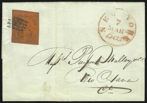 "Sale Number 965, Lot Number 1158, Local and Private Posts (Griegs thru Cressman)(Cole's) City Despatch Post, New York N.Y., 2c Black on Vermilion Glazed, ""CC"" (40L6), (Cole's) City Despatch Post, New York N.Y., 2c Black on Vermilion Glazed, ""CC"" (40L6)"