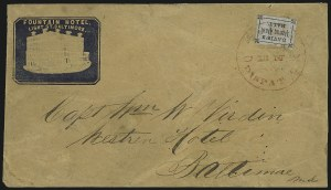 Sale Number 965, Lot Number 1170, Local and Private Posts (Crosby thru Douglas)Davis's Penny Post, Baltimore Md., (1c) Black on Lilac (57L1), Davis's Penny Post, Baltimore Md., (1c) Black on Lilac (57L1)