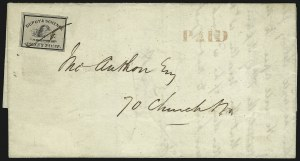 Sale Number 965, Lot Number 1175, Local and Private Posts (Dupuy thru Jabez Fearey)Dupuy & Schenck, New York N.Y., (1c) Black on Gray (60L2), Dupuy & Schenck, New York N.Y., (1c) Black on Gray (60L2)