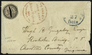 Sale Number 965, Lot Number 1177, Local and Private Posts (Dupuy thru Jabez Fearey)Eagle City Post, Philadelphia Pa., (2c) Black (61L2), Eagle City Post, Philadelphia Pa., (2c) Black (61L2)