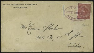Sale Number 965, Lot Number 1194, Local and Private Posts (Guys thru Hopedale)Guy's City Despatch, Philadelphia Pa., (1c) Pink (74L1), Guy's City Despatch, Philadelphia Pa., (1c) Pink (74L1)