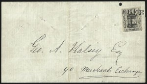 Sale Number 965, Lot Number 1201, Local and Private Posts (Husseys)Hussey's Post, New York N.Y., (1c) Black (87L2), Hussey's Post, New York N.Y., (1c) Black (87L2)
