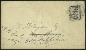 Sale Number 965, Lot Number 1208, Local and Private Posts (Husseys)Hussey's Post, New York N.Y., 2c Black, Thin Wove (87L51), Hussey's Post, New York N.Y., 2c Black, Thin Wove (87L51)