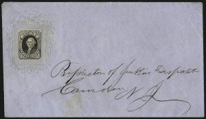 Sale Number 965, Lot Number 1216, Local and Private Posts (Jays thru Messenkope)Jenkins' Camden Dispatch, Camden N.J., (unstated value) Black, Fine Impression (89L1), Jenkins' Camden Dispatch, Camden N.J., (unstated value) Black, Fine Impression (89L1)