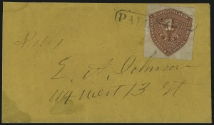 Sale Number 965, Lot Number 1225, Local and Private Posts (Metropolitan thru Pinckney)Metropolitan Errand and Carrier Express Co., New York N.Y., 1c Red Orange (107L1), Metropolitan Errand and Carrier Express Co., New York N.Y., 1c Red Orange (107L1)