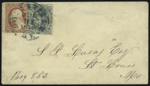 Sale Number 965, Lot Number 1247, Local and Private Posts (Russells thru Stringer & Morton)Squier & Co. City Letter Dispatch, St. Louis Mo., 1c Green, Imperforate (132L1), Squier & Co. City Letter Dispatch, St. Louis Mo., 1c Green, Imperforate (132L1)