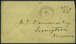 Sale Number 966, Lot Number 2512, Handstamped Paids and Dues (Kentucky)Hopkinsville Ky. Jan. 22, 1861, Hopkinsville Ky. Jan. 22, 1861