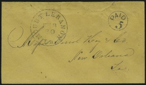 Sale Number 966, Lot Number 2535, Handstamped Paids and Dues (Louisiana)Mount Lebanon La. Feb. 20, Mount Lebanon La. Feb. 20