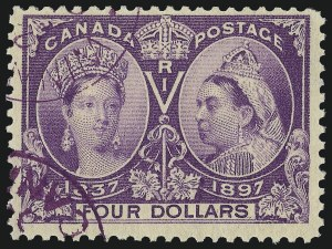Sale Number 966, Lot Number 2795, Foreign (Canada)CANADA, 1897, $4.00 Jubilee (64), CANADA, 1897, $4.00 Jubilee (64)