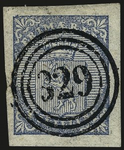 Sale Number 966, Lot Number 2864, Foreign (Italy thru Norway)NORWAY, 1855, 4s Blue (1), NORWAY, 1855, 4s Blue (1)