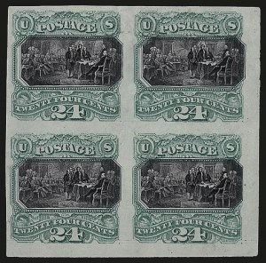 Sale Number 967, Lot Number 4018, Essays, Proofs and Specimens24c Green & Violet, Plate Proof on India (120P3), 24c Green & Violet, Plate Proof on India (120P3)
