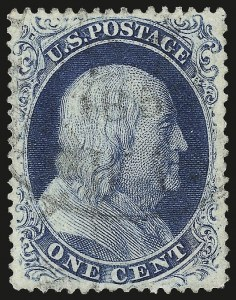 Sale Number 967, Lot Number 4114, 1857-60 Issue (Scott 18-39)1c Blue, Ty. III (21), 1c Blue, Ty. III (21)