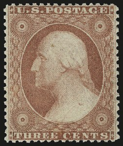 Sale Number 967, Lot Number 4125, 1857-60 Issue (Scott 18-39)3c Dull Red, Ty. III (26). Mint N.H, 3c Dull Red, Ty. III (26). Mint N.H