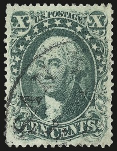 Sale Number 967, Lot Number 4138, 1857-60 Issue (Scott 18-39)10c Green, Ty. I (31), 10c Green, Ty. I (31)