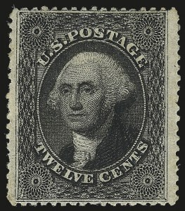 Sale Number 967, Lot Number 4144, 1857-60 Issue (Scott 18-39)12c Black, Plate 3 (36B), 12c Black, Plate 3 (36B)