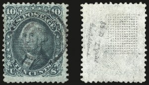Sale Number 967, Lot Number 4190, 1867-68 Grilled Issue (Scott 79-101), including the 10c Z Grill10c Green, Z. Grill (85D), 10c Green, Z. Grill (85D)