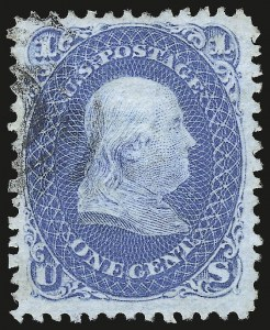 Sale Number 967, Lot Number 4193, 1867-68 Grilled Issue (Scott 79-101), including the 10c Z Grill1c Blue, E. Grill (86), 1c Blue, E. Grill (86)