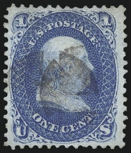 Sale Number 967, Lot Number 4194, 1867-68 Grilled Issue (Scott 79-101), including the 10c Z Grill1c Blue, E. Grill (86), 1c Blue, E. Grill (86)