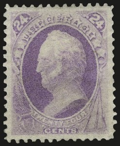 Sale Number 967, Lot Number 4279, 1870-71 National Bank Note Co. Ungrilled Issue (Scott 145-155)24c Purple (153), 24c Purple (153)