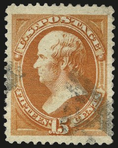 Sale Number 967, Lot Number 4306, 1879 American Bank Note Co. Issue (Scott 182-191)15c Red Orange (189), 15c Red Orange (189)