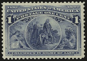 Sale Number 967, Lot Number 4350, 1893 Columbian Issue (Scott 230-245)1c Columbian (230), 1c Columbian (230)