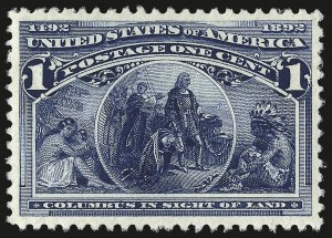 Sale Number 967, Lot Number 4351, 1893 Columbian Issue (Scott 230-245)1c Columbian (230), 1c Columbian (230)