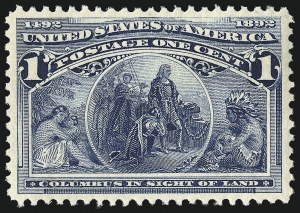 Sale Number 967, Lot Number 4352, 1893 Columbian Issue (Scott 230-245)1c Columbian (230), 1c Columbian (230)
