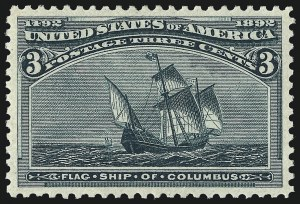 Sale Number 967, Lot Number 4353, 1893 Columbian Issue (Scott 230-245)3c Columbian (232), 3c Columbian (232)