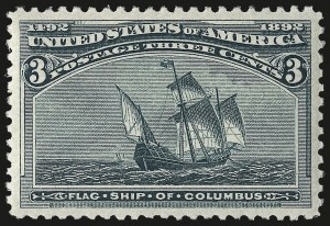 Sale Number 967, Lot Number 4354, 1893 Columbian Issue (Scott 230-245)3c Columbian (232), 3c Columbian (232)