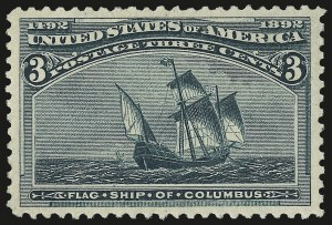 Sale Number 967, Lot Number 4355, 1893 Columbian Issue (Scott 230-245)3c Columbian (232), 3c Columbian (232)
