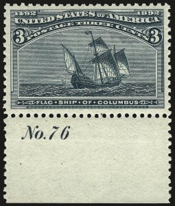 Sale Number 967, Lot Number 4356, 1893 Columbian Issue (Scott 230-245)3c Columbian (232), 3c Columbian (232)