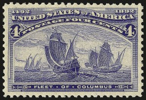 Sale Number 967, Lot Number 4359, 1893 Columbian Issue (Scott 230-245)4c Columbian (233), 4c Columbian (233)