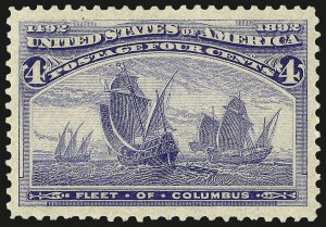 Sale Number 967, Lot Number 4360, 1893 Columbian Issue (Scott 230-245)4c Columbian (233), 4c Columbian (233)