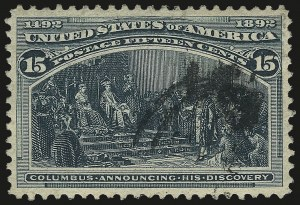 Sale Number 967, Lot Number 4385, 1893 Columbian Issue (Scott 230-245)15c Columbian (238), 15c Columbian (238)