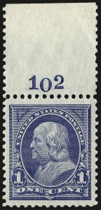 Sale Number 967, Lot Number 4422, 1894 Unwatermarked Bureau Issue (Scott 246-263)1c Blue (247), 1c Blue (247)