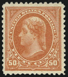 Sale Number 967, Lot Number 4427, 1894 Unwatermarked Bureau Issue (Scott 246-263)50c Orange (260), 50c Orange (260)